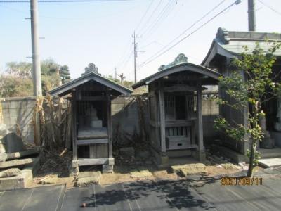 松戸市の横須賀・正福寺・江戸川88ヶ所巡り(38)(74)・石仏