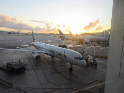 アメリカン航空 国内線ファーストクラス マイアミからボストン