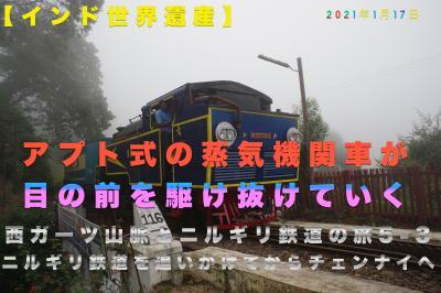 【インド世界遺産】西ガーツ山脈とニルギリ鉄道の旅5-3 ニルギリ鉄道を追いかけてからチェンナイへ