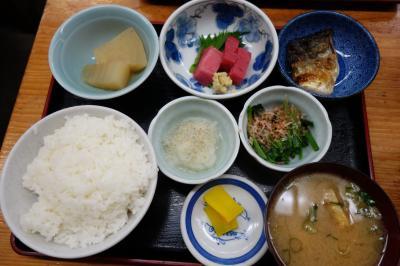 20210317-2 京都 山科まで移動して、千成餅食堂。昼ビールと定食を。