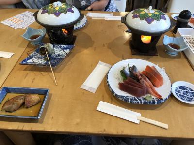 久しぶりに熱川シーサイドホテルさんに泊まりました。夕食~翌日です。