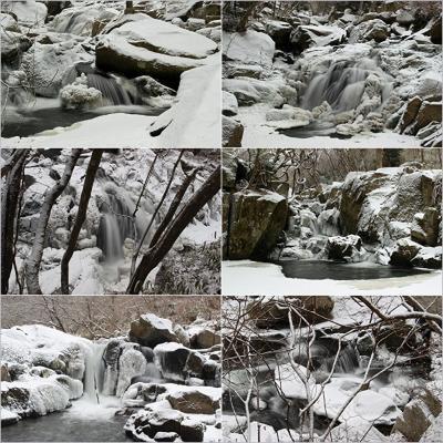 ◆閑なる氷雪の山鶏滝渓谷