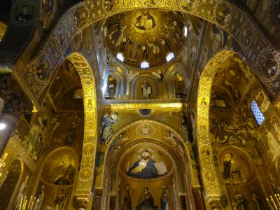 5歳娘を連れて年末年始マルタ+シチリア10日間16-入れてよかったノルマン王宮とパラティーナ礼拝堂