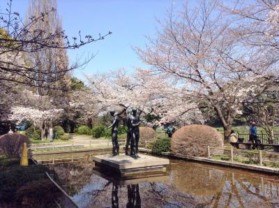 桜が八分咲きの千鳥ヶ淵公園を通って半蔵門に行ったら、陛下の車列に遭遇
