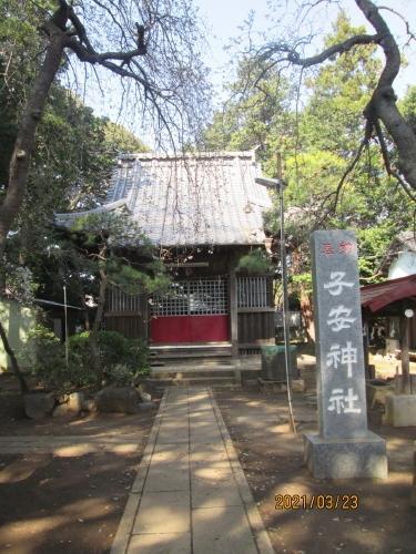 松戸市の八ヶ崎・子安神社・石仏