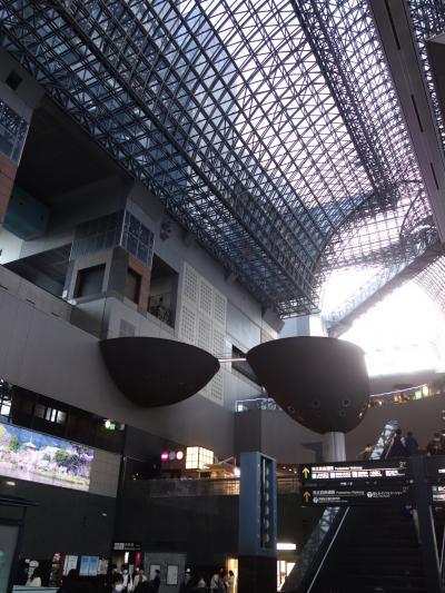 京都駅の空中探検。空にも上る気分です。