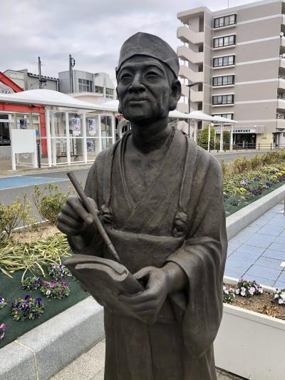 「奥の細道」を巡る‐9:「笠島は いづこさ月の ぬかり道」笠島、武隈の松から壺の碑へ