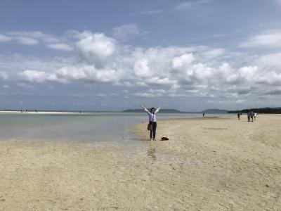 3泊4日。その2。晴天の竹富島を水牛観光と星砂海岸、コンドイビーチ満喫してから石垣島へ