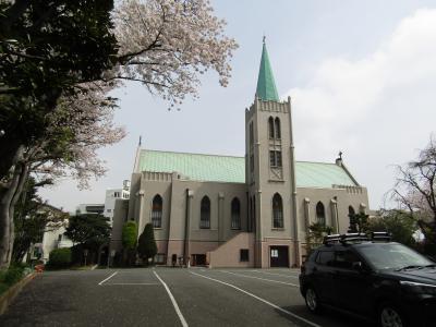 カトリック山手教会の桜-2021年