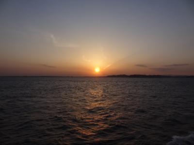 房総登山&鉄船旅・その4.東京湾フェリー/しらはま丸サンセットクルーズ。