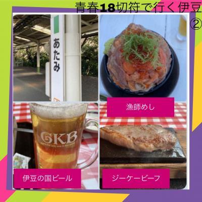 青春18切符で行く静岡デカ盛り海鮮丼とステーキと地ビール日帰り1人旅 2