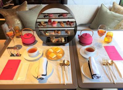 『フォションホテル京都』宿泊記②アフタヌーンティーは素敵な【サロン ド テ フォション】でパリ直輸入のマカロンなどをいただきました♪【ジム】