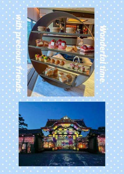 春爛漫の京都でアフタヌーンティーから二条城ライトアップイベントまで♪