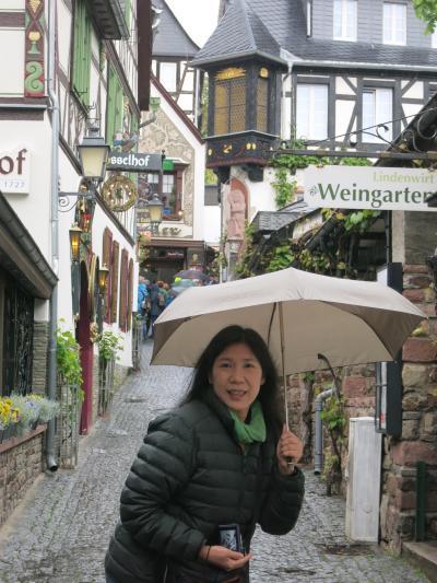 心の安らぎ旅行(2019年 夫目線 Part33 ドイツ10日目 Rudesheim リューデスハイム Regen 雨♪)