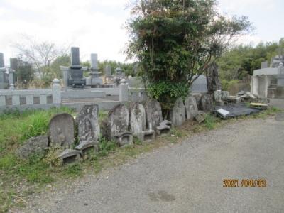 我孫子市の布佐・共同墓地・石仏