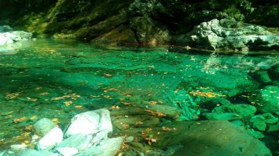 高知県を訪問しました。安居渓谷まで足を延ばしました。