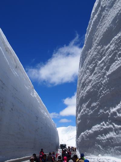 立山黒部アルペンルート前編 富山~室堂 雪の大谷ウォーク