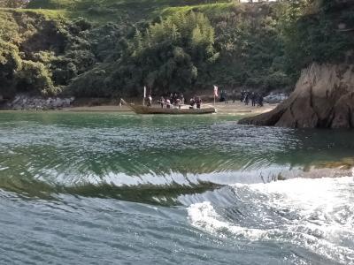 週末土日♪しまなみ&ゆめしま海道を船で巡ります(4)大島で能島水軍潮流体験と海鮮BBQ