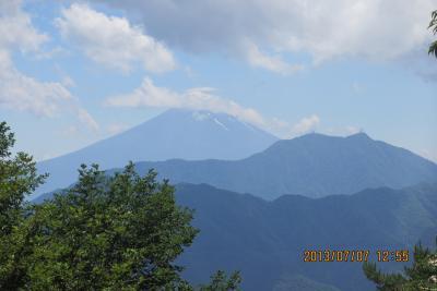 富士山を見る山行シリーズ 滝子山