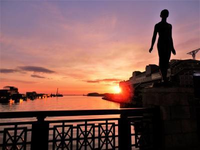 21 北海道・陽春遠き釧路 美しき萌える夕陽の街を後にぶらぶら歩き旅ー4