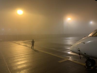 熊本 日帰り出張 濃霧で帰れるかな?