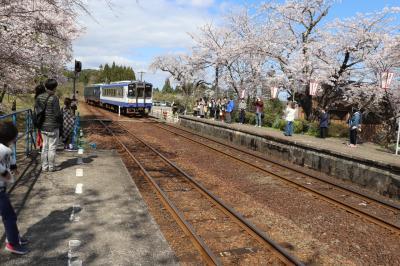 桜駅と和倉温泉