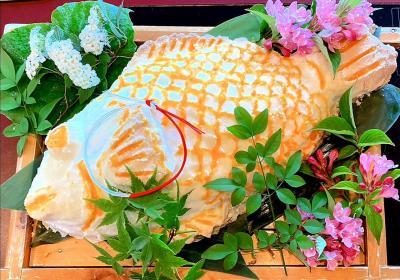 *祝* ダンナちゃんの還暦祝い in 味彩よひら/鯛の塩釜焼き/ヤリイカの活き造り