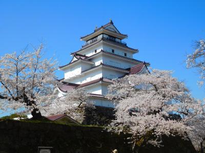 会津東山温泉と鶴ヶ城から見下ろす春模様(花めぐりの旅'2021春⑤)