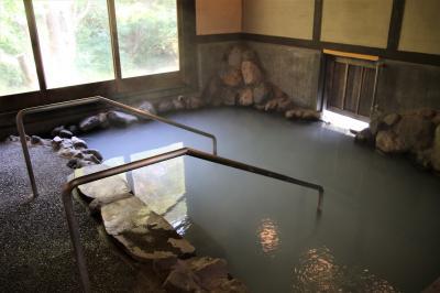 明礬うどんで鴨南蛮蕎麦ととり天セットを食べホテルさわやかハートピア明礬で温泉を楽しむ