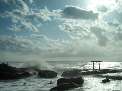 神磯の鳥居とひたち海浜公園