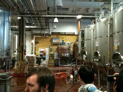 マサチューセッツ州 ボストン - サミュエル アダムス ビール工場見学へ