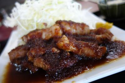 20210421-3 長岡京 まるか食堂のトンテキ定食でお昼ごはん