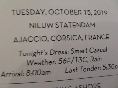 10泊 N Statendam★5★9日目 Tues, Oct 15Monte Carlo, Monaco