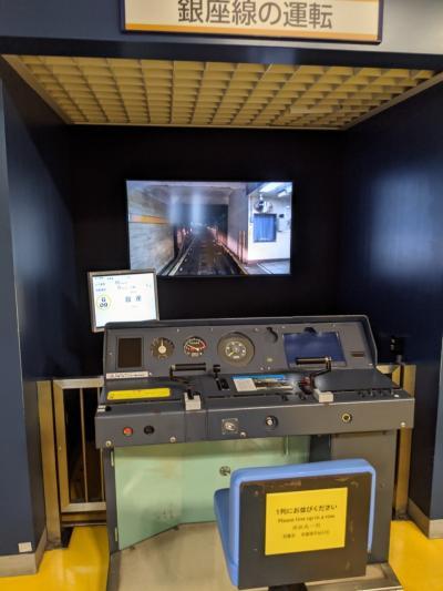 地下鉄博物館、ちょっと見学。