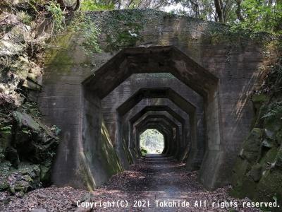 美里町の石橋と廃線跡
