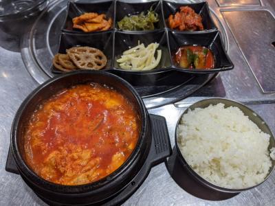 鶴橋の韓国料理店「おかわり」でランチ&カナリヤでパフェ