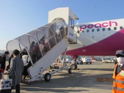 石垣再訪(2)Peach機搭乗。