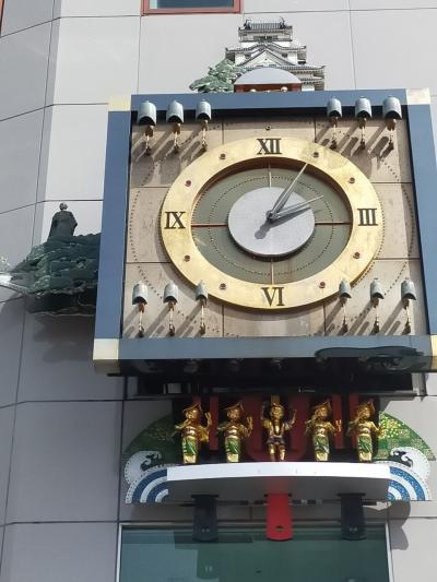 2021年3月高知旅行2 はりまや橋・からくり時計・アンパンマンの石像