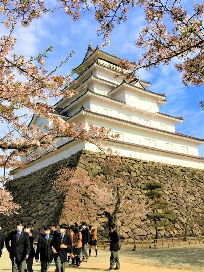 喜多方⑦番外編-I 喜多方からの帰り道、素通りは出来なかった会津若松「鶴ヶ城」名残の桜
