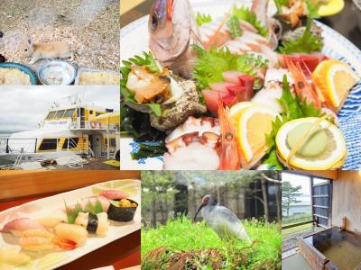 春の新潟旅No.2<佐渡1>朱鷺伝説と露天風呂の宿 きらくで温泉と食事を楽しむ トキの森でトキ 長谷寺でうさぎに出会う 鮨 長三郎でランチ