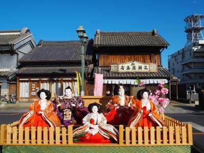 いろんなイベントが自粛の中、栃木市で通りに少しだけ飾られたひな人形を見てきました