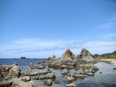 春の新潟旅No.4<佐渡3>尖閣湾揚島遊園でイカ焼きとビール 夫婦岩 ジェットフォイルに乗って新潟市へ