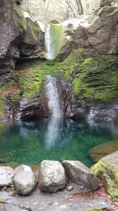 檜枝岐村で裁ち蕎麦食べて帰りにおしらじの滝を見る予定が雨と雹で折り返し。2日後にリベンジ。