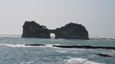 緑陰の熊野参詣(3)南紀白浜 ② 三段壁・千畳敷・円月島