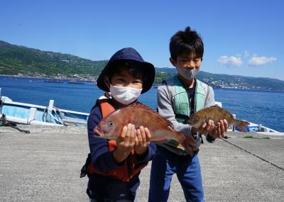 甥っ子たちとのGW(2)筏釣りの東海他