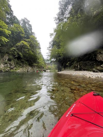 三段峡カヤック、湯来温泉 熊本・広島4日間食い倒れ旅