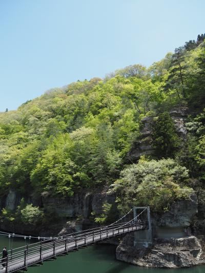 新緑の南会津 ~塔のへつり・大内宿・観音沼~