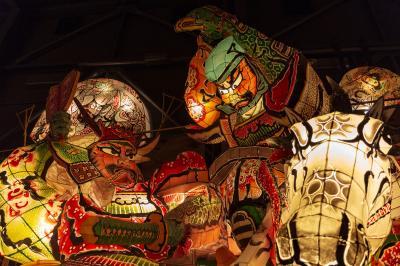 弘前/津軽半島/白神山地ぐるり旅【1】~実物大の大型ねぷた~津軽藩ねぷた村