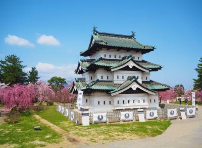 2泊4日でドライブ旅、見てみたかった弘前公園の桜と花筏を見に弘前へ【1】桜満開の弘前公園