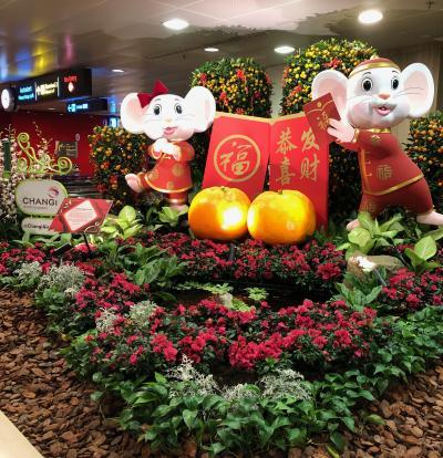 2020年1月 旧正月のクアラルンプール 4日間-シンガポールチャンギ空港ラウンジ、JALビジネス搭乗編